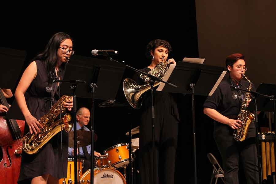 Wellesley College BlueJazz Ensemble performing