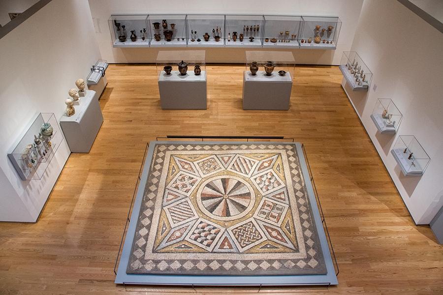 Roman, Mosaic Floor from the Villa of Daphne, 5th century C.E., stone tesserae set in mortar