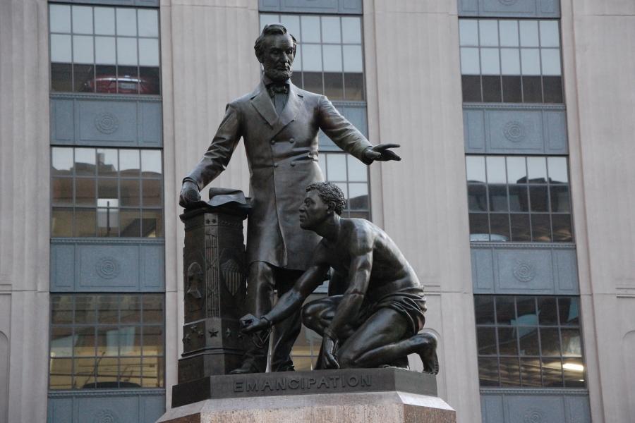 Thomas Ball, Emancipation Memorial, Park Square, Boston, MA, 1876
