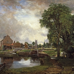 John Constable (English, 1776-1837), Dedham Lock and Mill, 1820, oil on canvas.