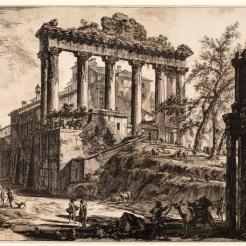 Piranesi's Temple of Saturn (1774 etching)