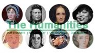 Photos in ciricular frames of figures studied in Wellesley humanities courses