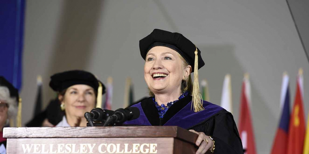 Hillary Rodham Clinton '69 at Wellesley Commencement