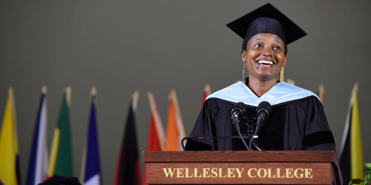 Tracy K. Smith, poet laureate of the United States speaks at commencement 2018.