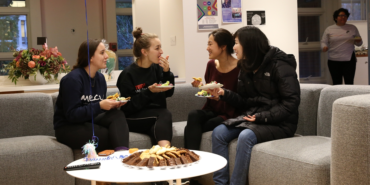 Students welcomed friends to an Acorns open house in November.