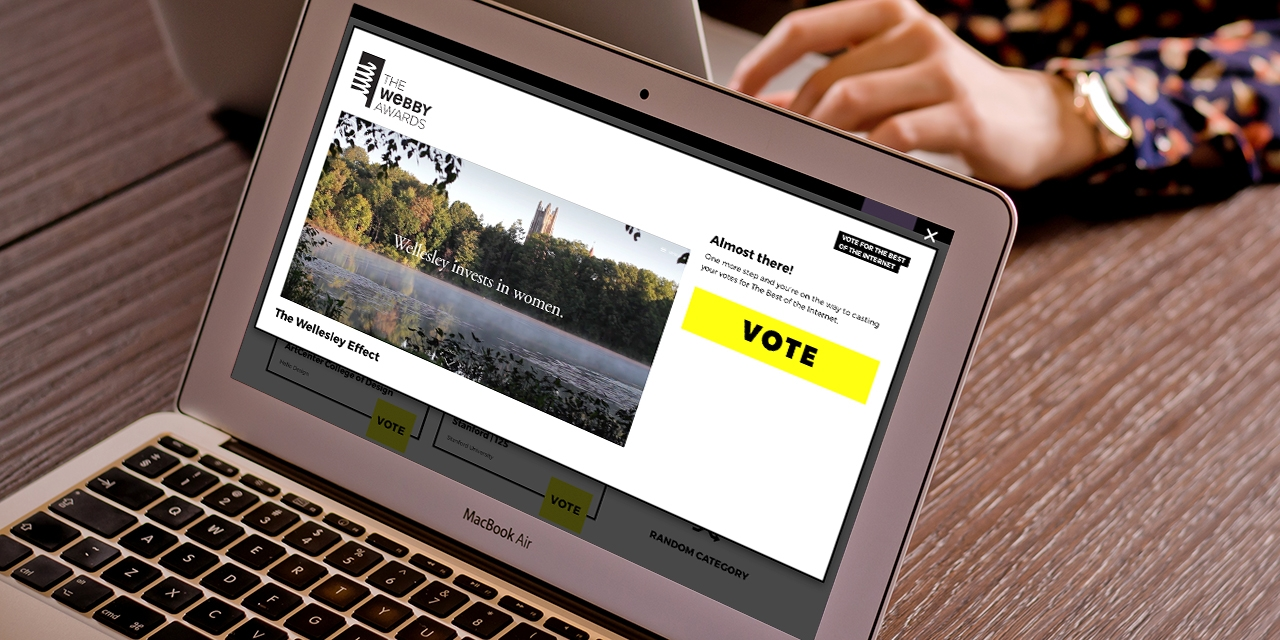 Wellesley Campaign Microsite Nominated for Webby Award