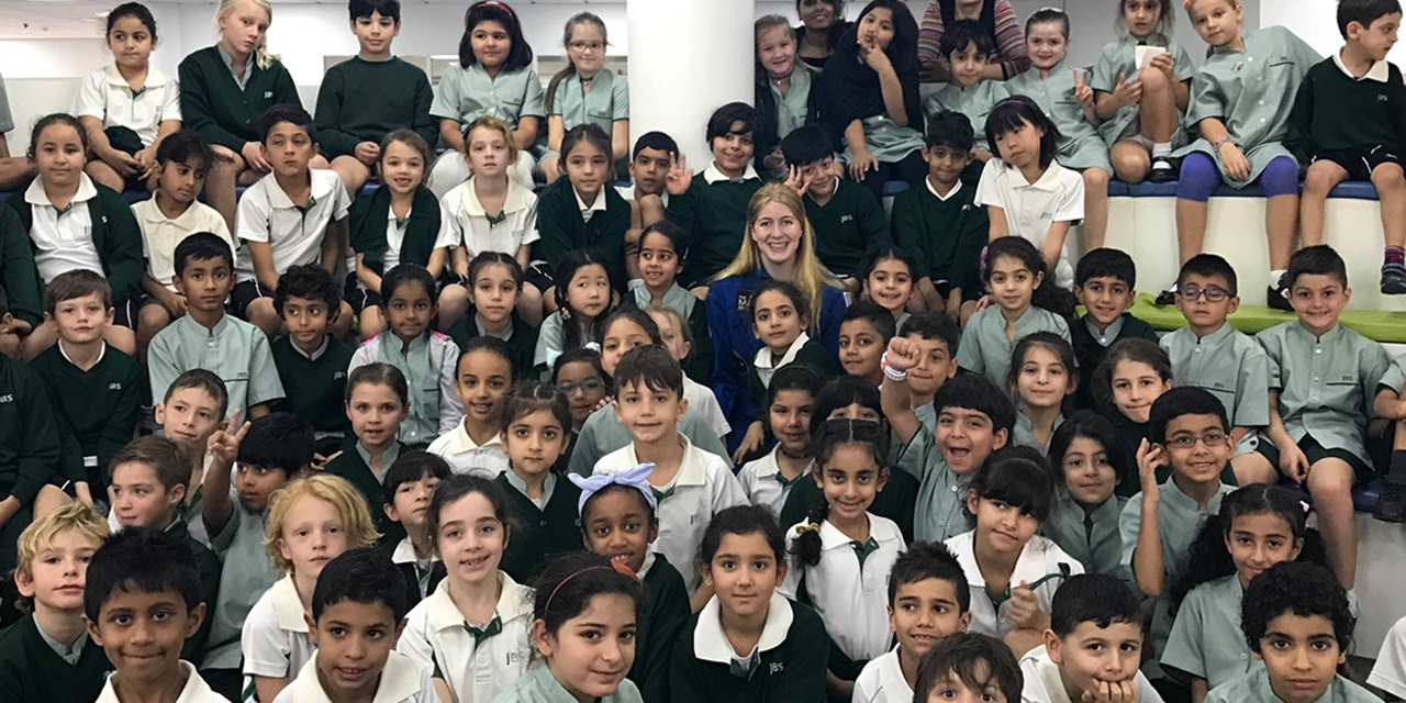 Grade 2 students from the Jumeira Baccalaureate School in Dubai