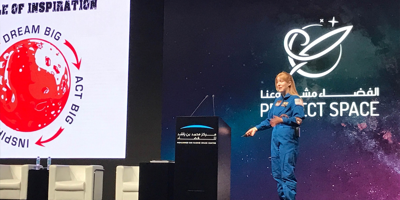 """As a Project Space speaker, Harrison encouraged aspiring young scientists to """"dream big, act big, and inspire others."""""""