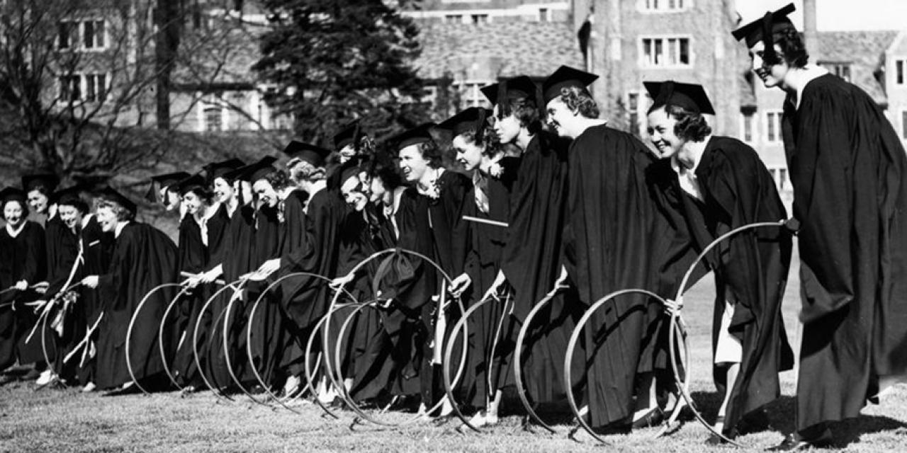 Wellesley student participate in hooprolling.