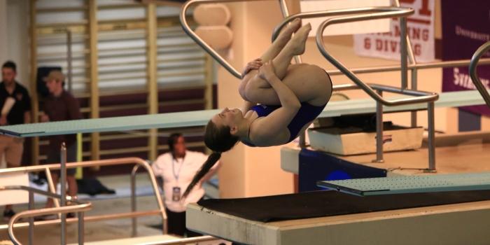 Maura Sticco-Ivins '18 wins 3-meter diving championship
