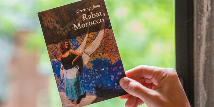 A postcard of Malak AlSayyad '19, who is in Morocco participating in a Global Citizenship Internship