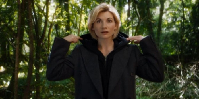 Jodie Whittaker in film still, trailer for Dr. Who, season 11