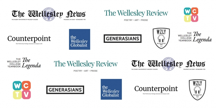 The logos of all the student publications at Wellesley