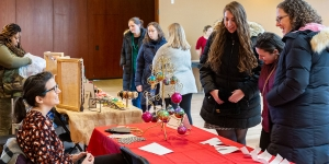 holiday shoppers enjoyed hand made crafts at the annual community craft fair.