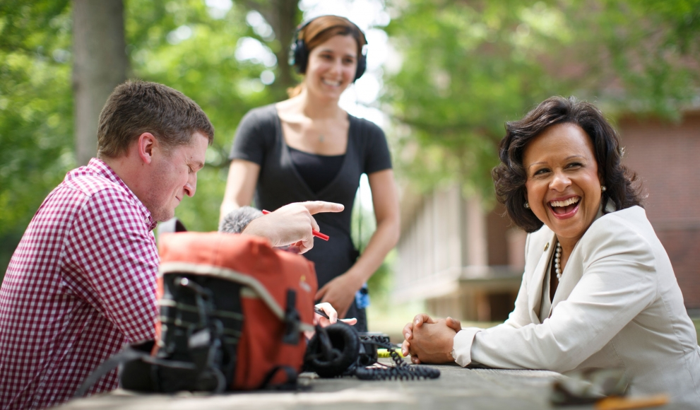 President Paula Johnson speaks with WGBH for their College Leadership Series