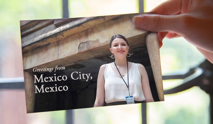 A post card of Jericko in Mexico City