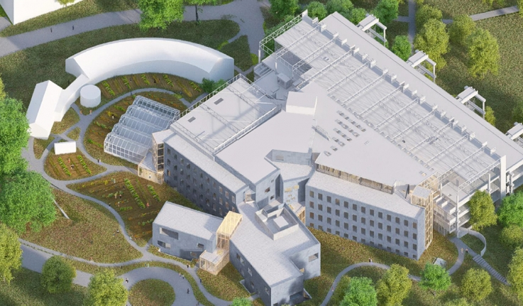 A rendering of the new science center.