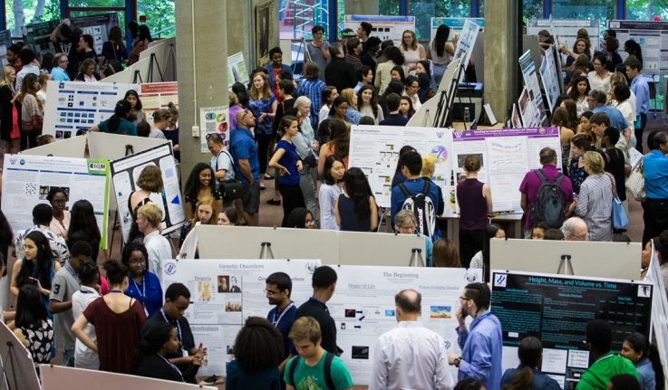 Family, Faculty, and Fiends View the Fruits of Summer Research in the Science Center