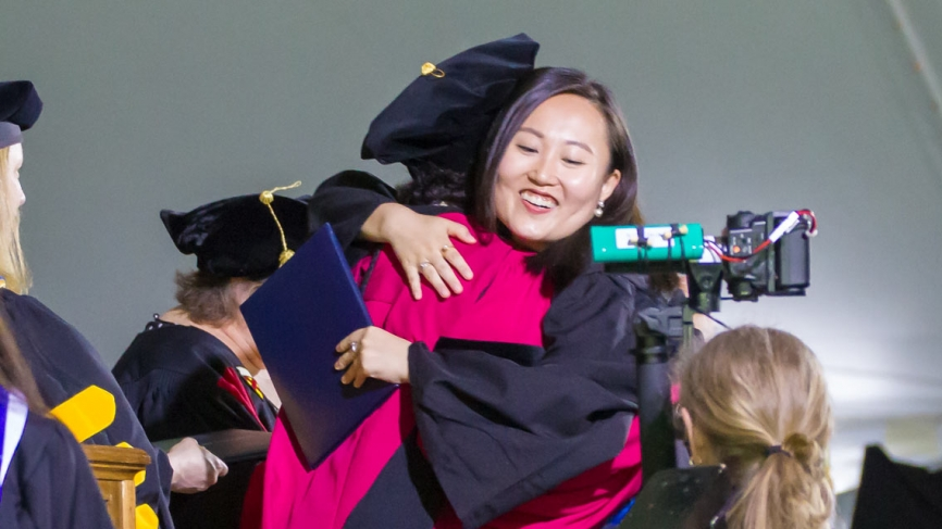 Degrees of Bachelor of Arts for the class of 2018 are happily conferred.