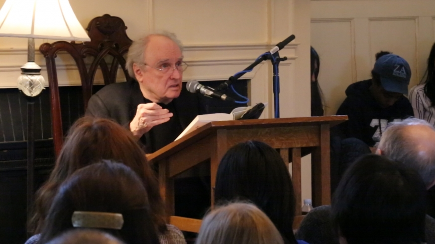Poet Frank Bidart reads from a selection of his work