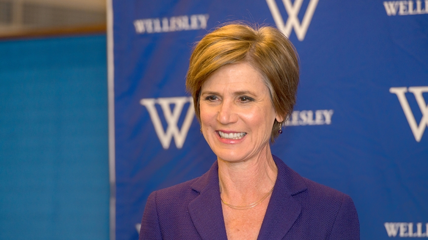Sally Yates speaks at a keynote address