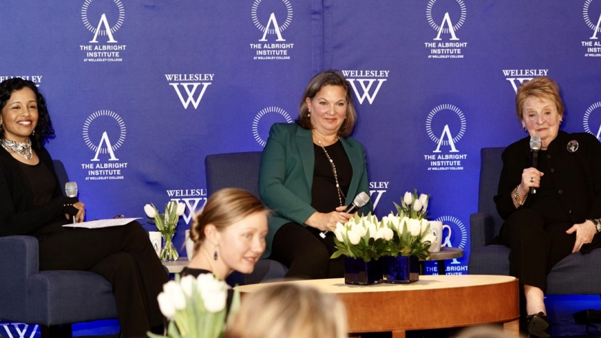 Sec Albright joins Ambassador Nuland and a Wellesley professor on Stage