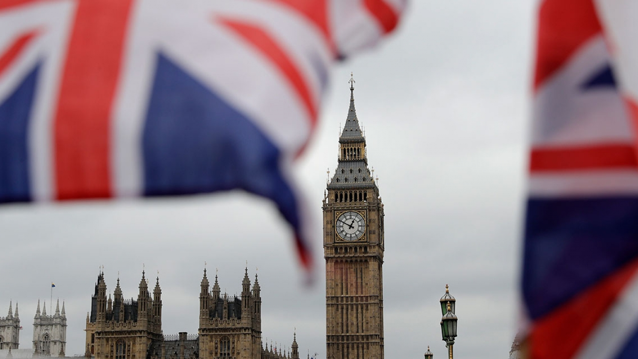 Big ben and the UK flag