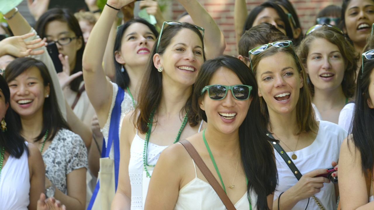 Alumnae from the class of 2009 celebrate their reunion.