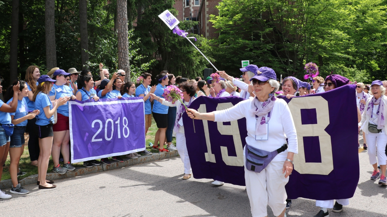Annual alumnae parade is a joyful display of Wellesley pride.