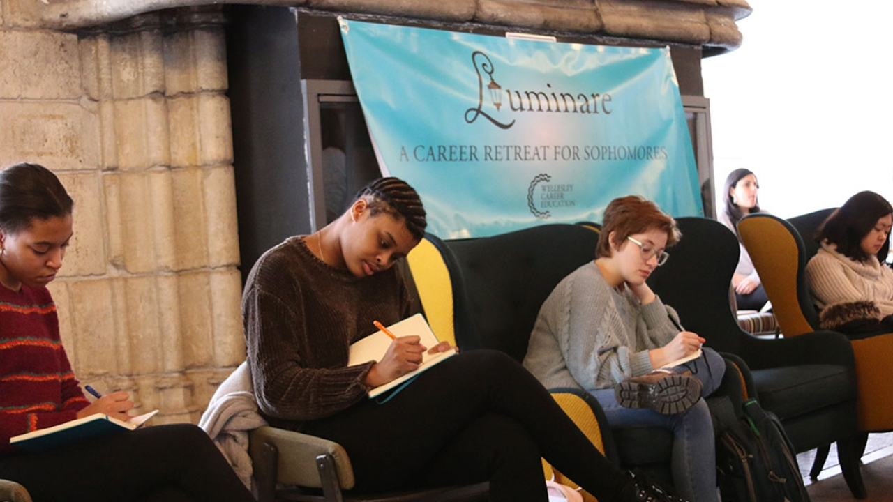 Students work on an assignment