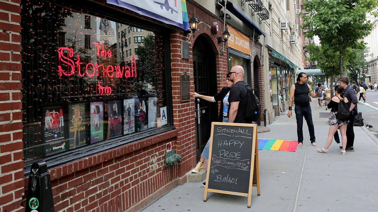 An image of the front of The Stonewall Inn.