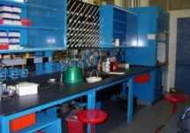 Lab bench at Wellesley College