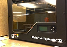 Maker Tools in the Knapp Center: 3D printers & scanner, touchscreen monitors, motion capture devices, and more