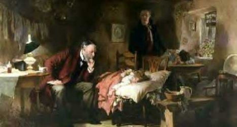 doctor at a patient's bedside