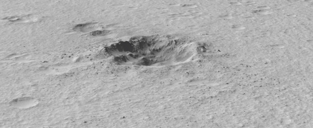 3-D model of martian impact crater generated as part of a student-assisted research project.